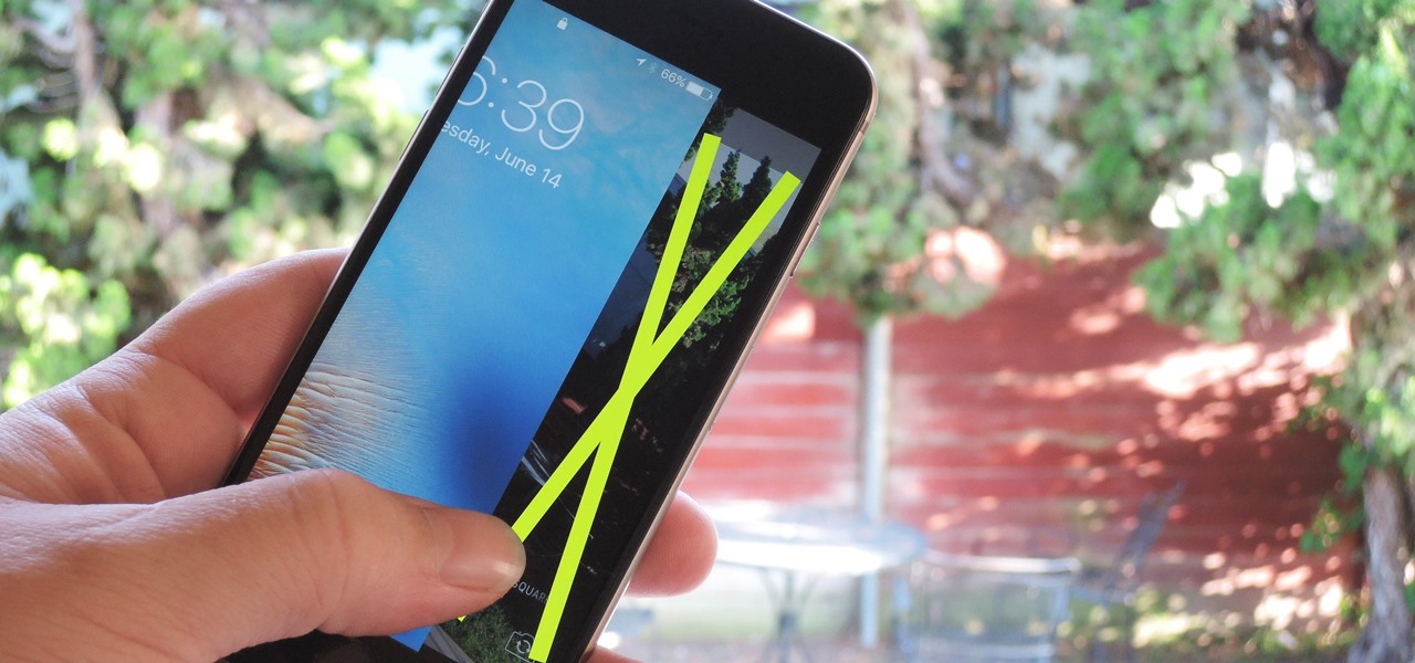 Remove the Lock Screen Camera Shortcut on Your iPhone in iOS 10