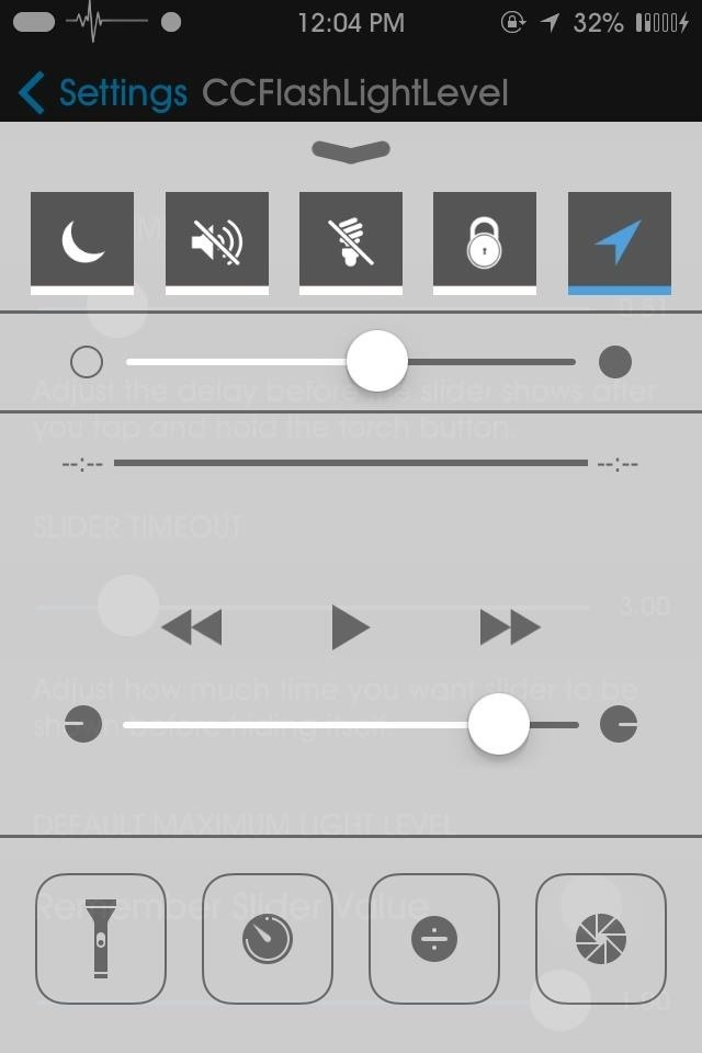 How to Add a Dimmer Switch to Your iPhone's Flashlight in the Control Center