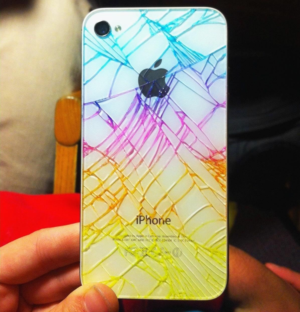 iPhone Quick Tip: Add Color to Make Your Broken Rear Glass Panel Look… Less Broke