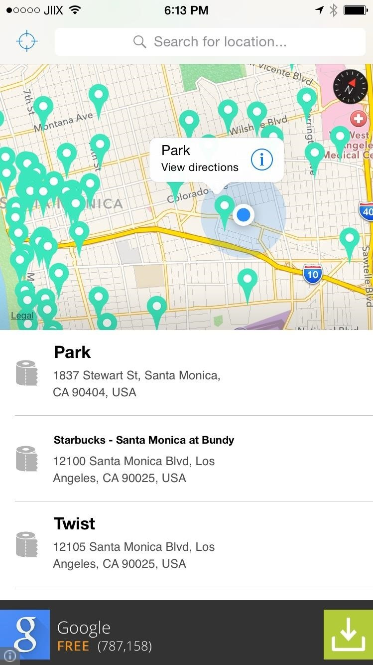 How to Find the Nearest Public Restroom on Your iPhone