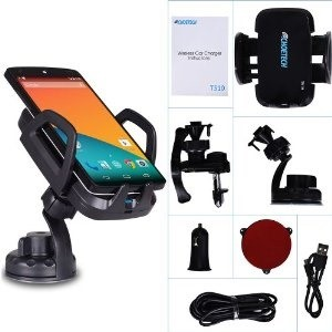 UPGRADED Qi Wireless Car Charger Dock Reviews