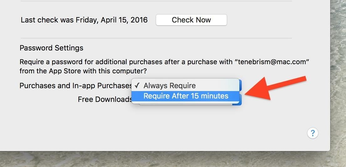 Disable Password Prompts When Downloading Free Apps in the Mac App Store