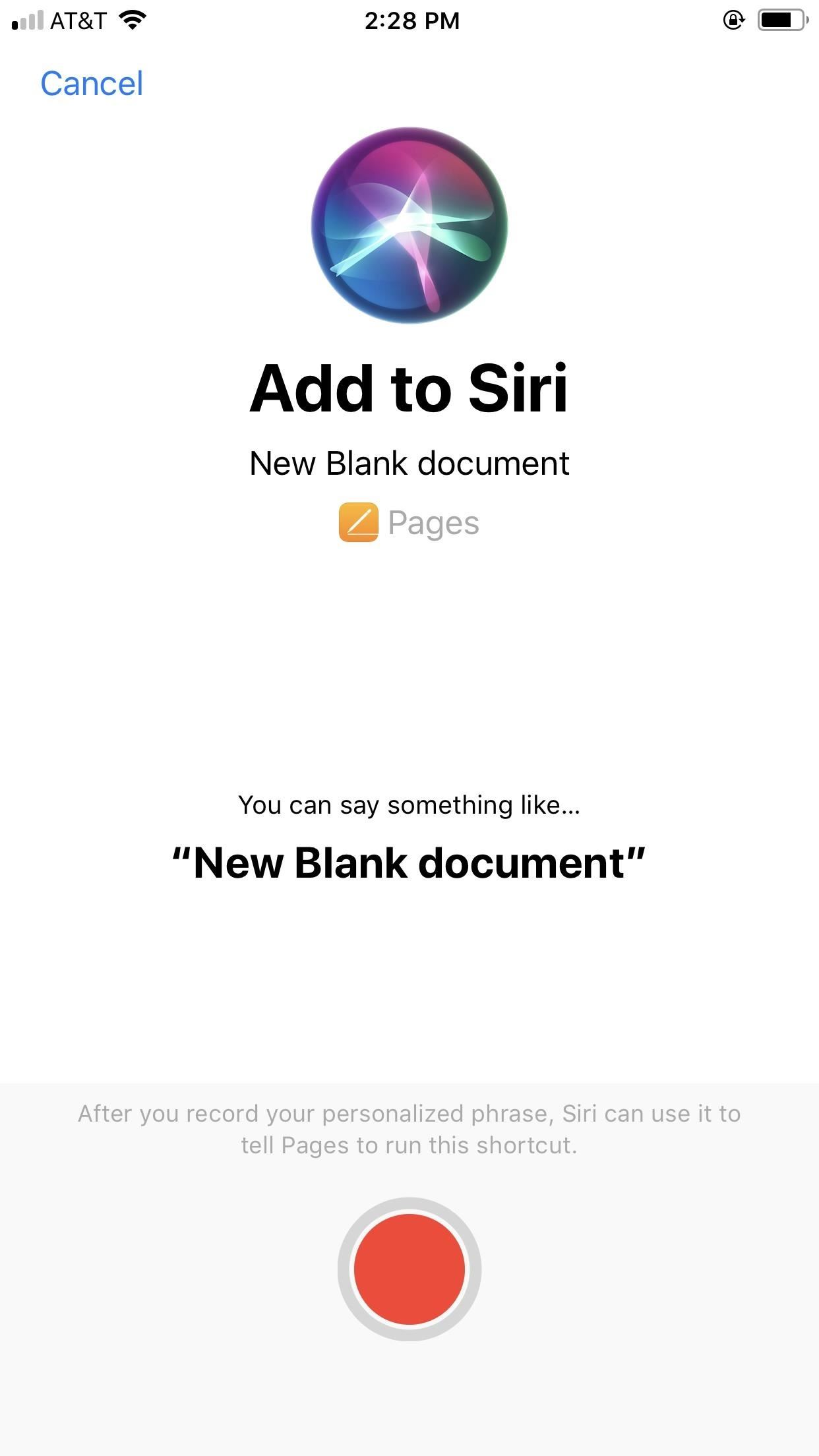Make Siri Start a New Blank Apple Pages Document on Your iPhone