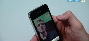 Use the front-facing camera on an Apple iPhone 4