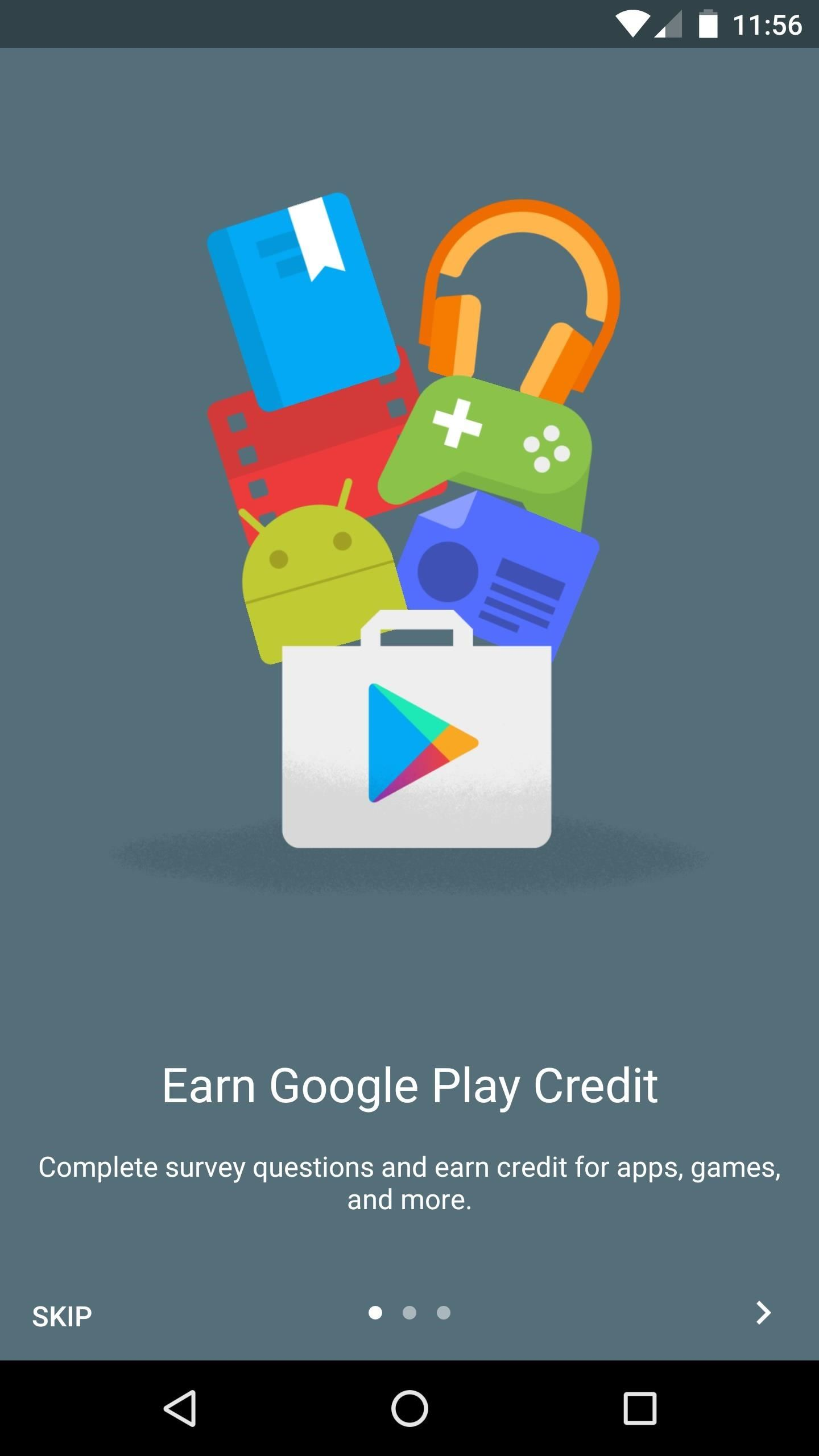 Earn Play Store Credits by Getting Google Opinion Rewards to
