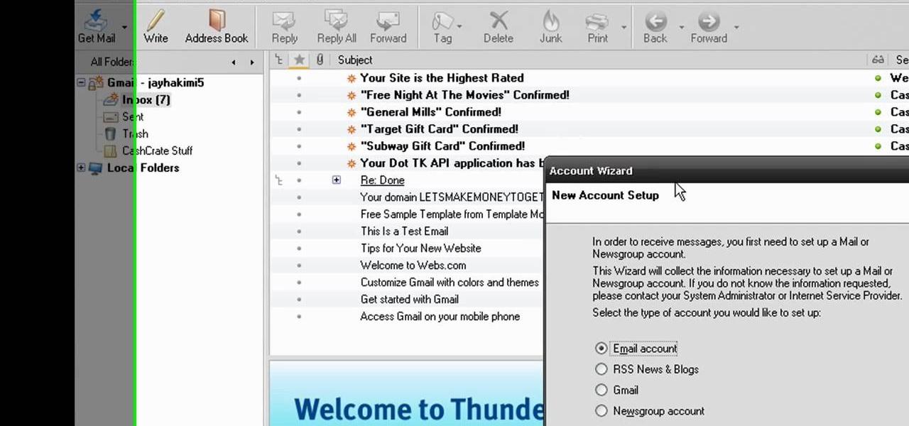 thunderbird mozilla how to find account