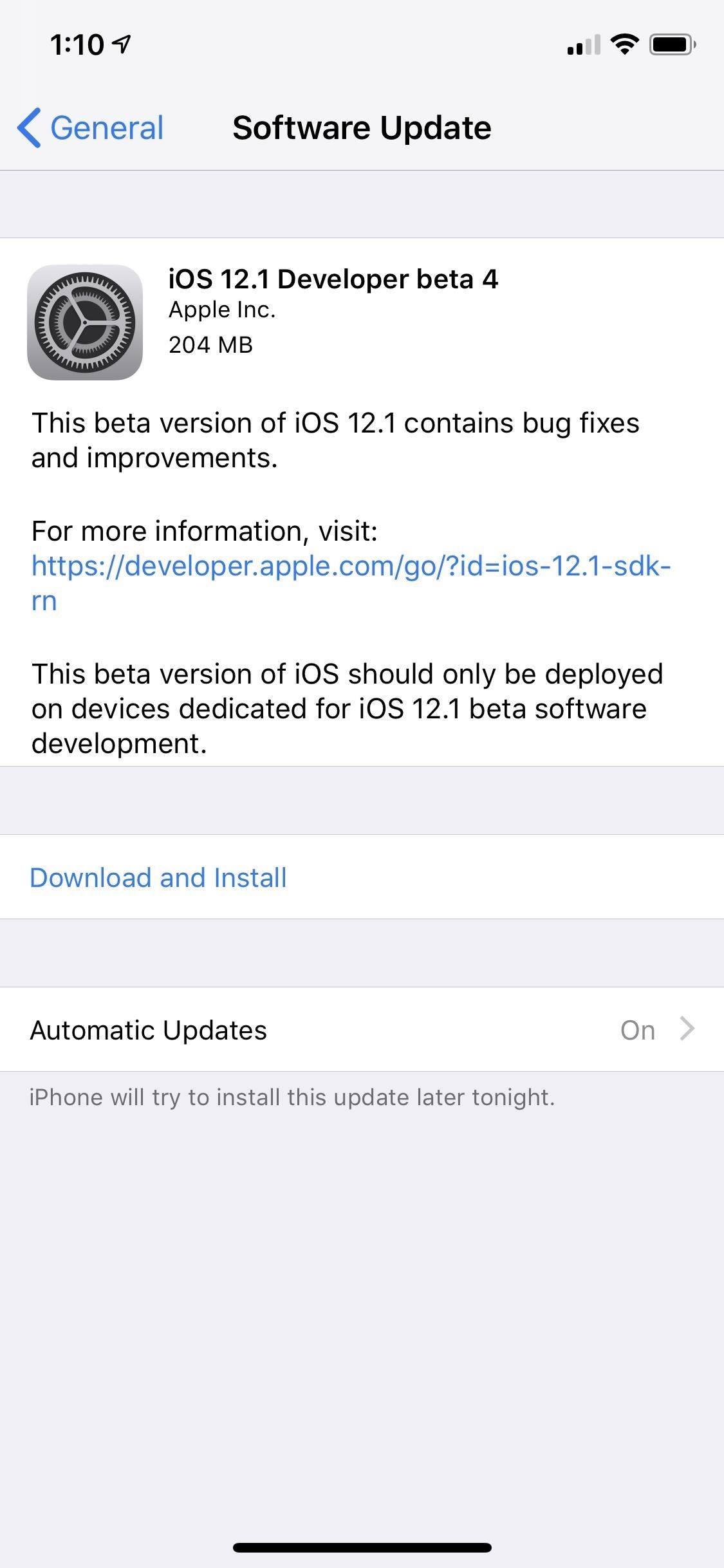 Apple Just Released iOS 12.1 Developer Beta 4 to Testers
