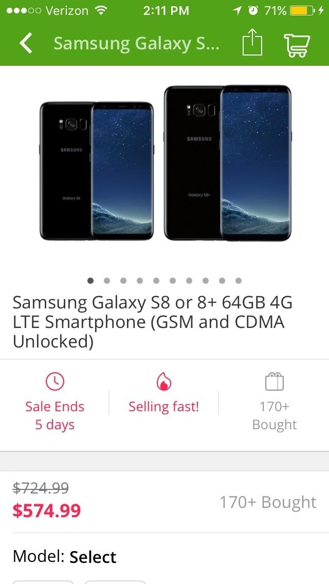 Dining, Travel & … Smartphones? Groupon Now Offers Discounts on Unlocked Galaxy S8
