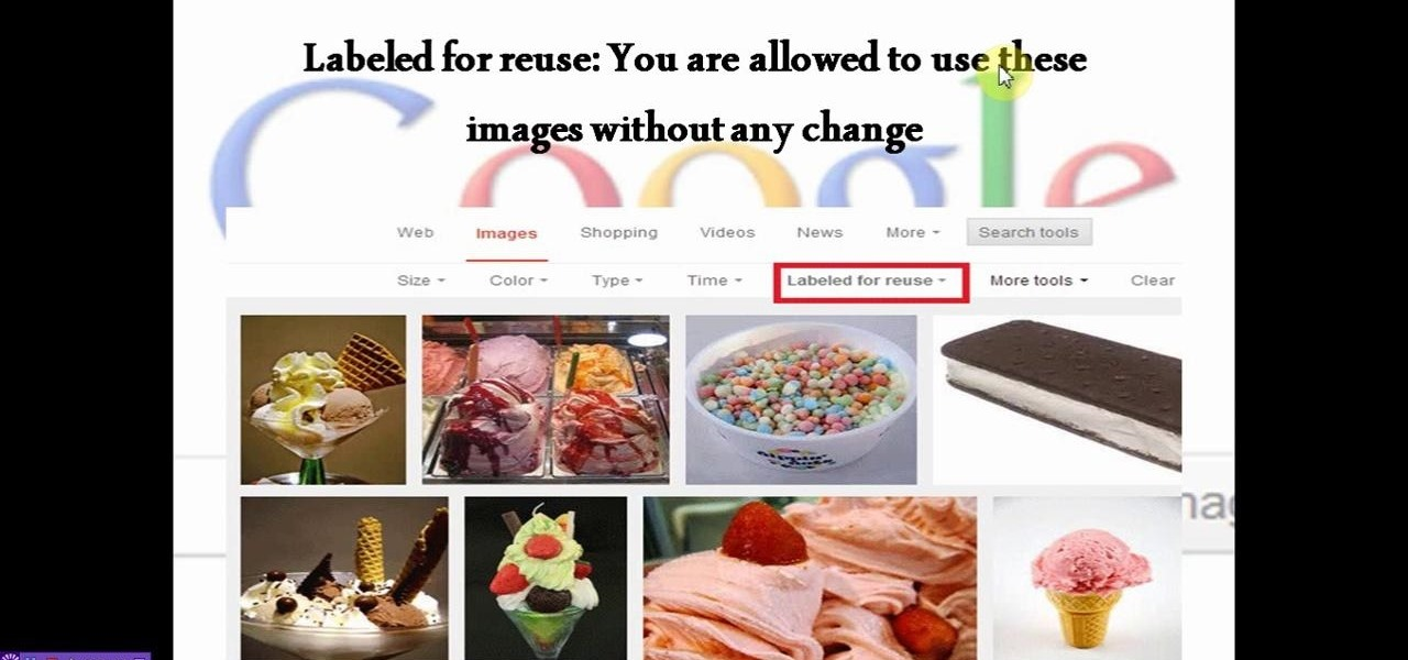 Google Image Search Usage Right Feature