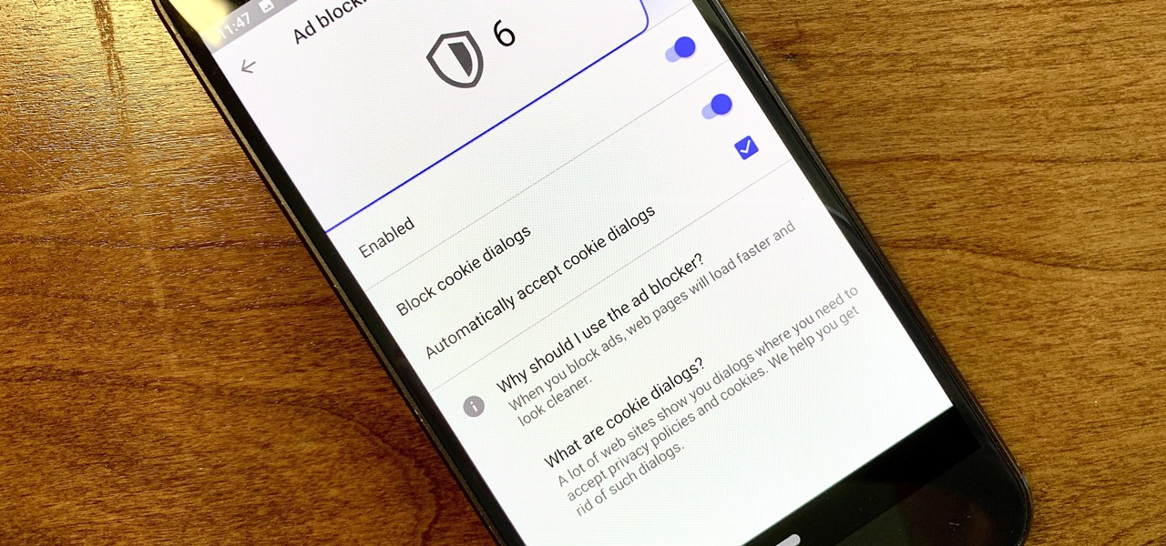 Block Annoying GDPR Cookie Pop-Ups While Browsing the Web on Android
