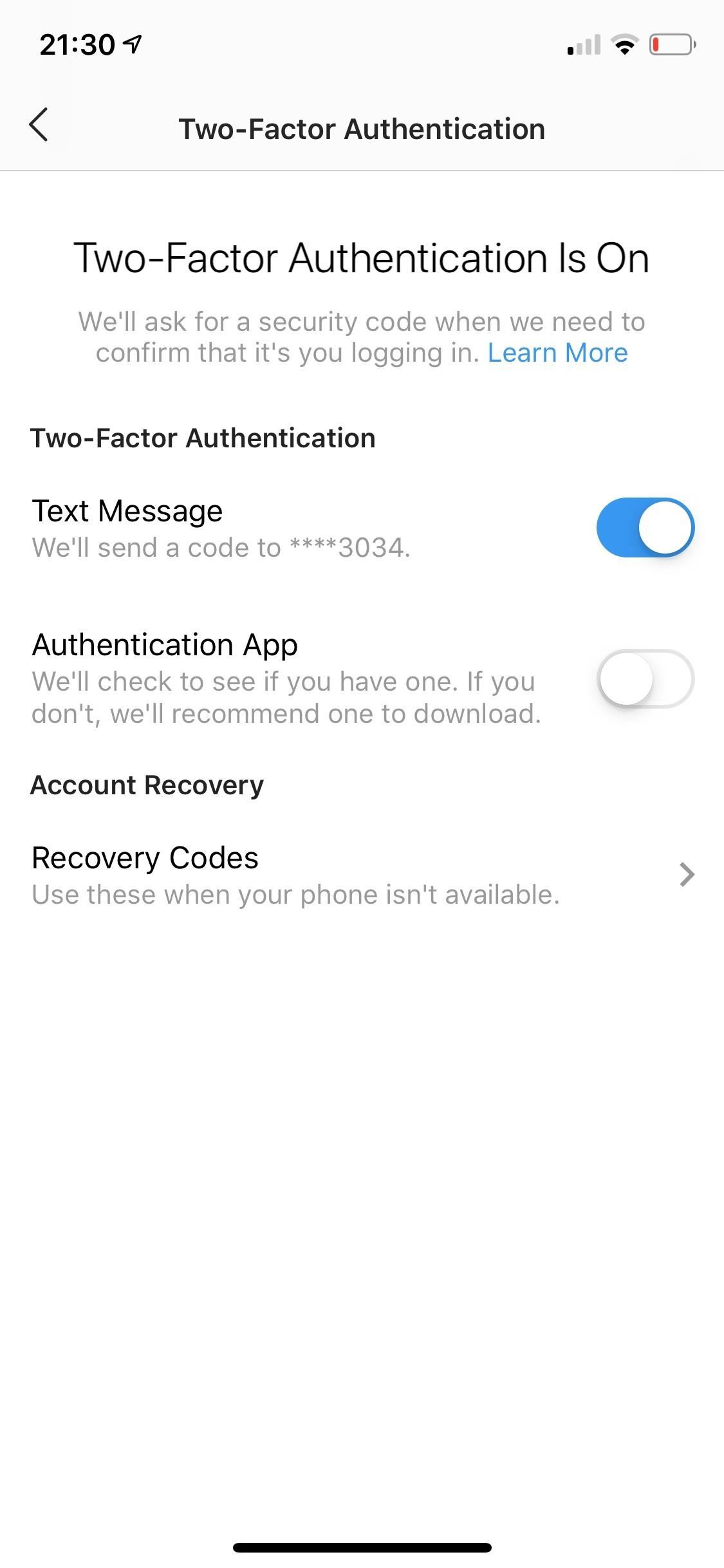 Setting Up Instagram Restore Codes This is how you can always access your account when 2FA is enabled