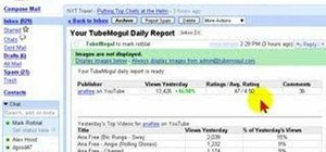 Email, schedule, or embed a report with Tubemogul