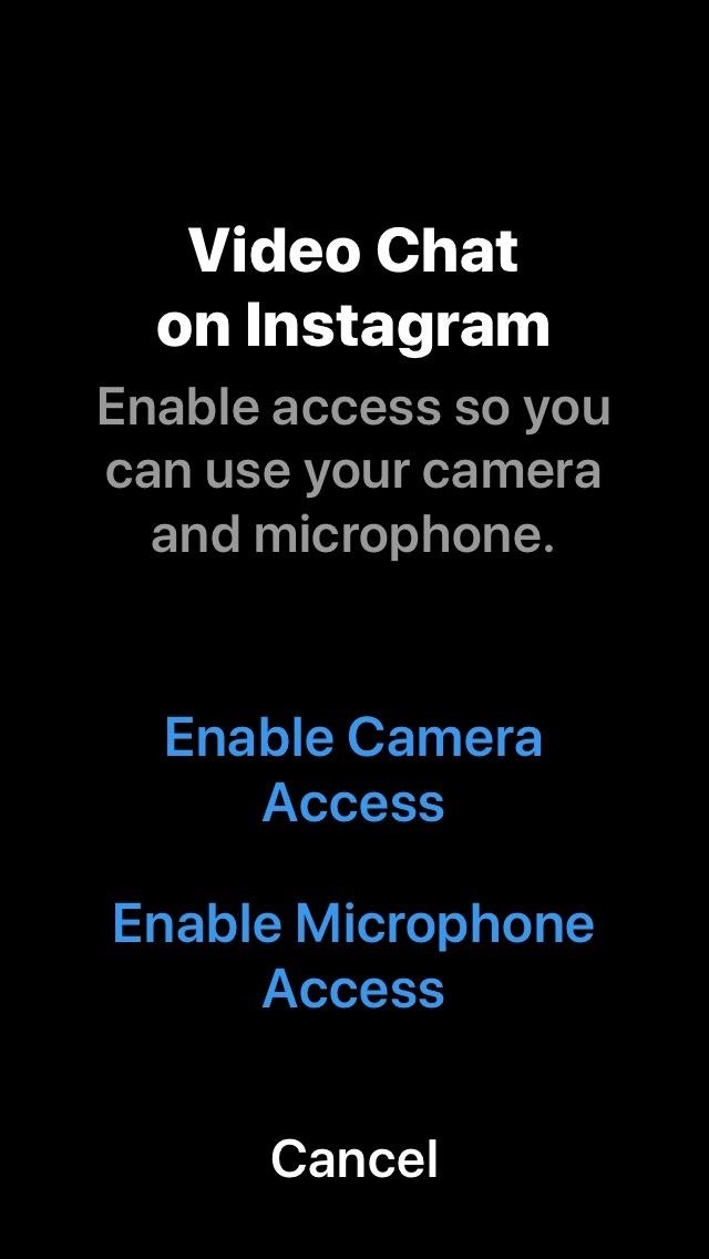 How to Cast Video or Audio In Instagram Direct Messages for One or More Quick Calls