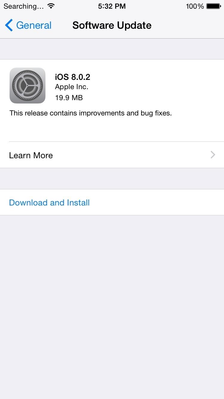 iOS 8.0.2—Update Now to Fix Cell Signal, Touch ID, HealthKit, Keyboards, & More