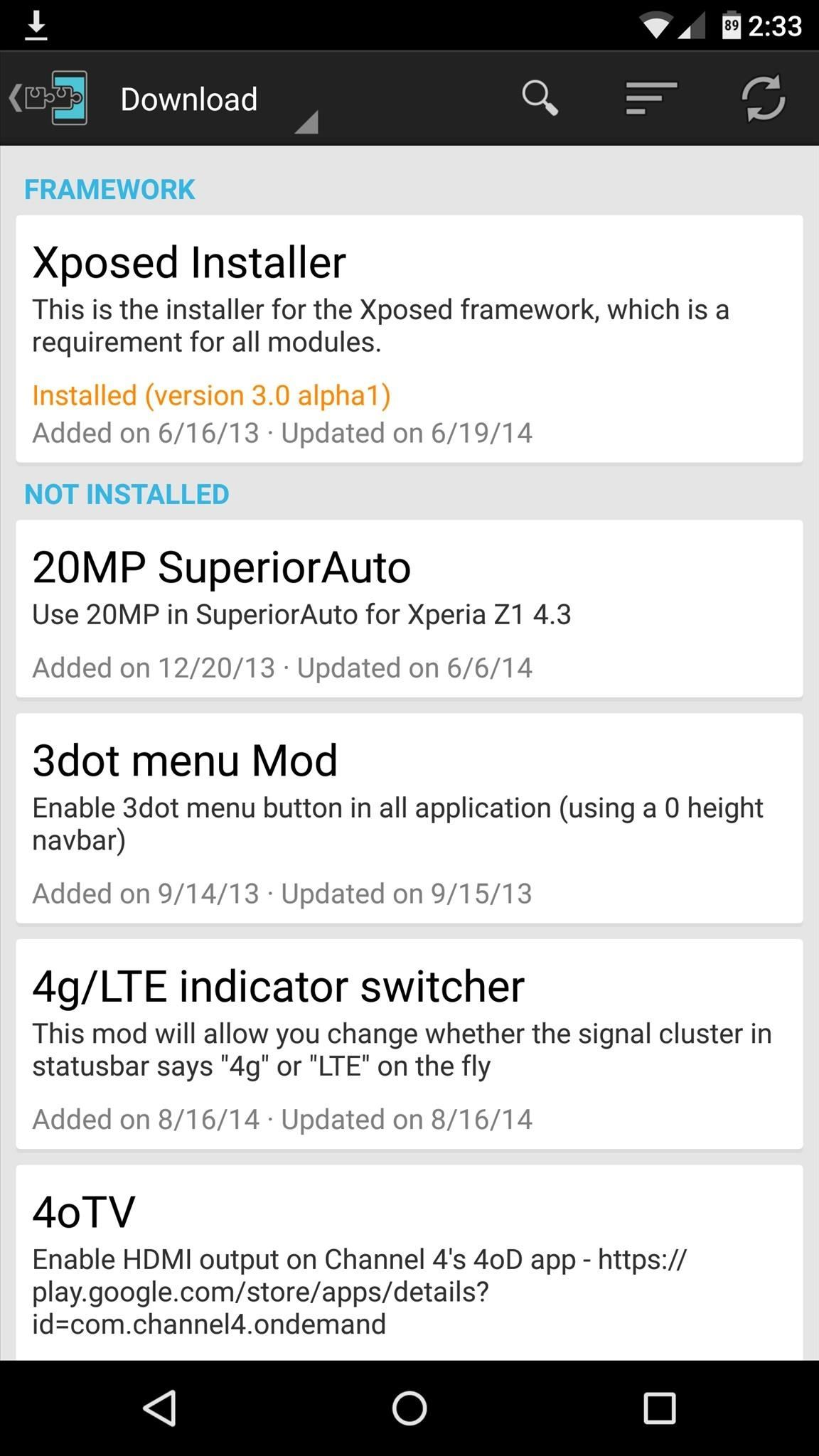 How to Install the Xposed Framework on Android Lollipop Devices