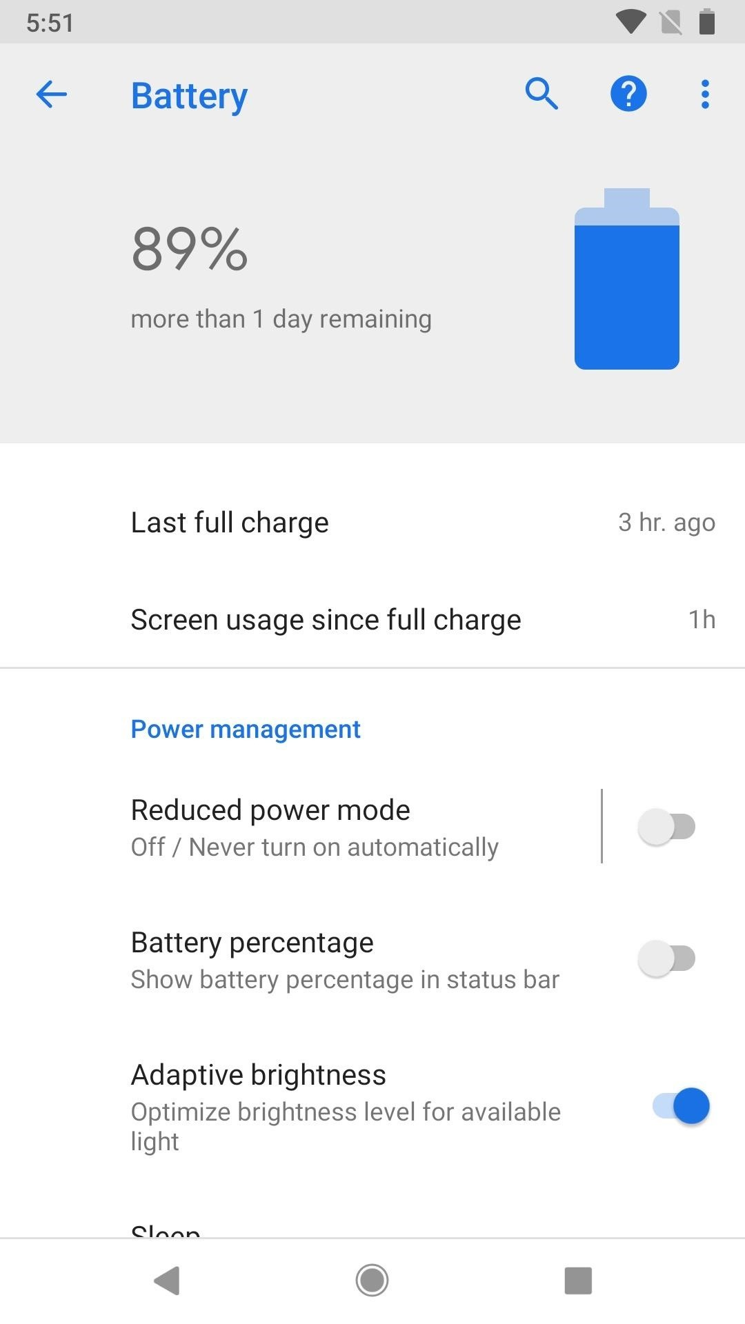 How to Get Oreo's Battery Menu Back on Android Pie
