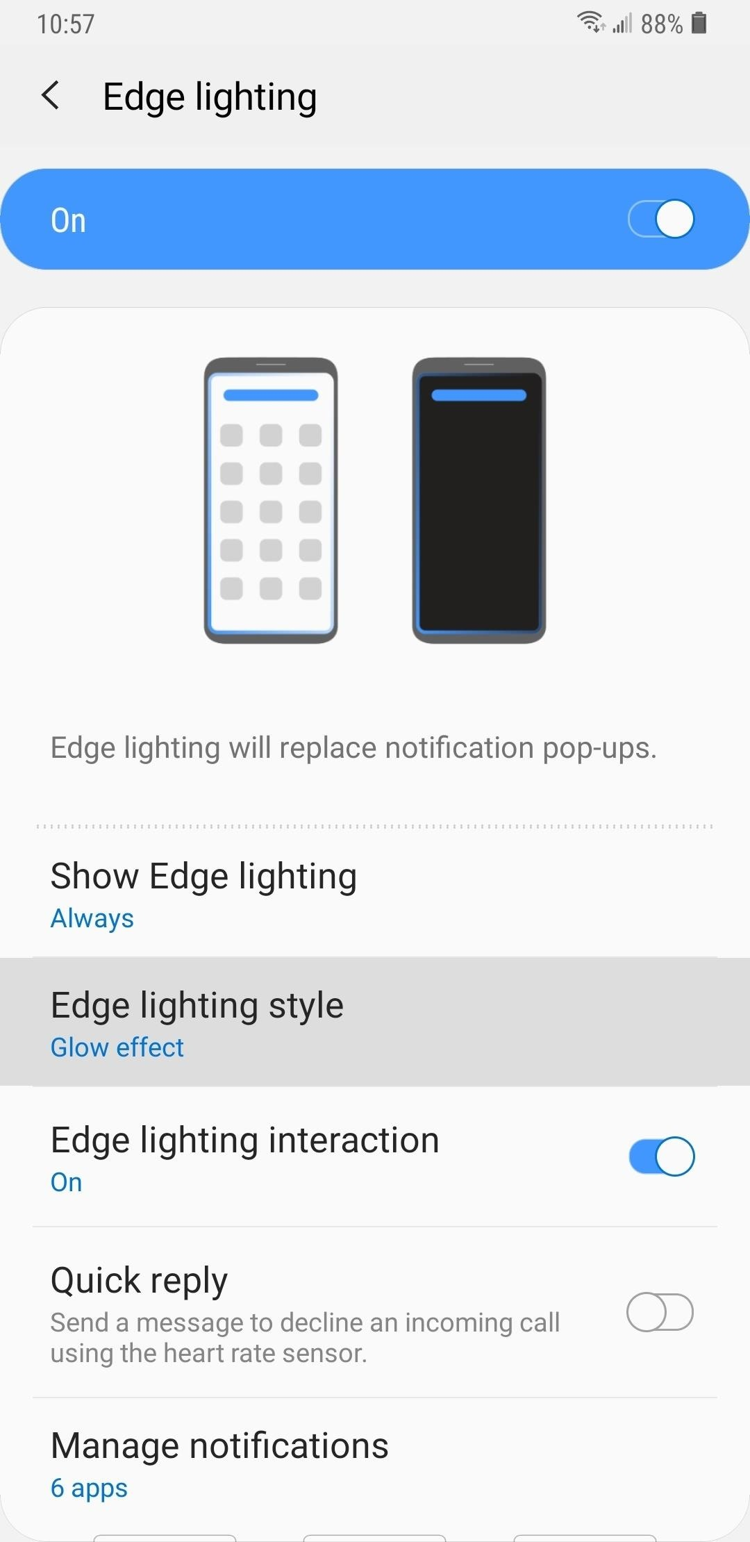 Samsung Android Pie Update: Galaxy Devices Are Getting Better Edge Lighting