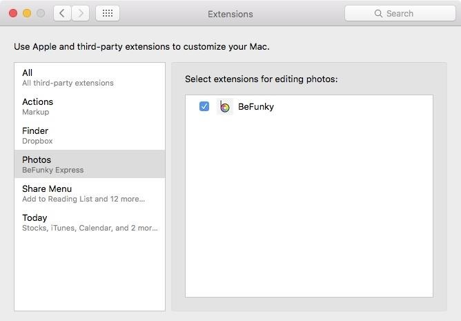 how to add third party extensions to mac