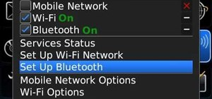 Pair a BlackBerry phone with another device using Bluetooth