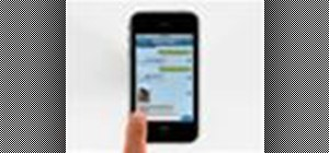 Send SMS and MMS messages on the Apple iPhone 3G