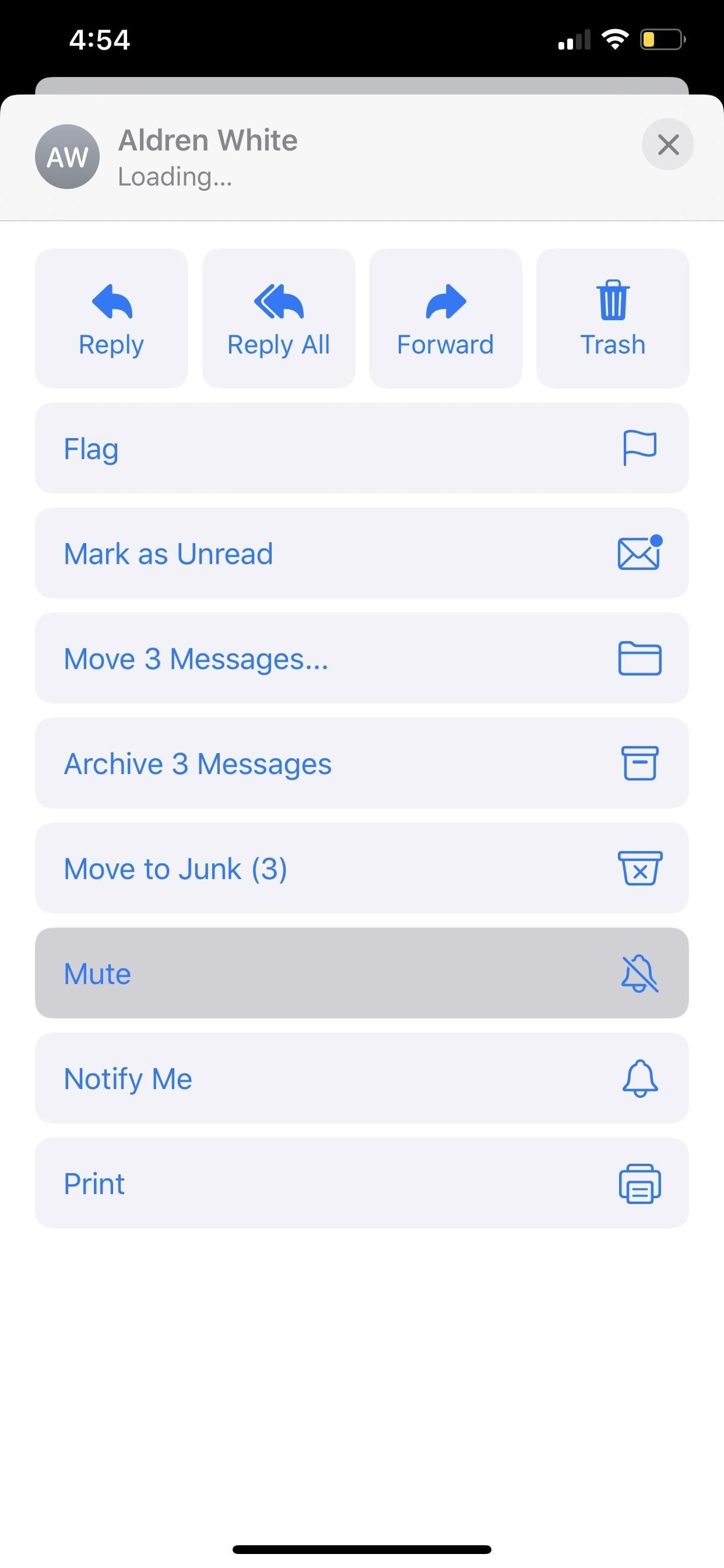 How to Mute Email Conversation Threads in iOS 13's Mail App to Stop Annoying Notifications