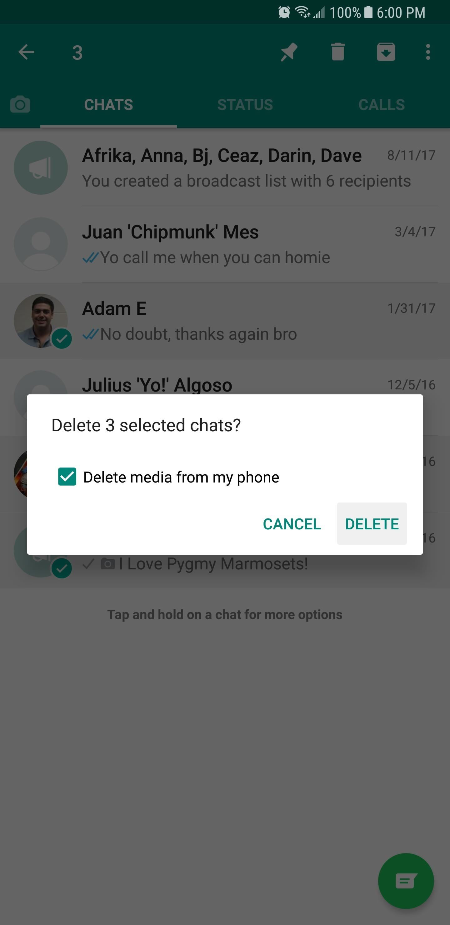 WhatsApp 101: How to Delete Individual & Group Chats on Your iPhone or Android