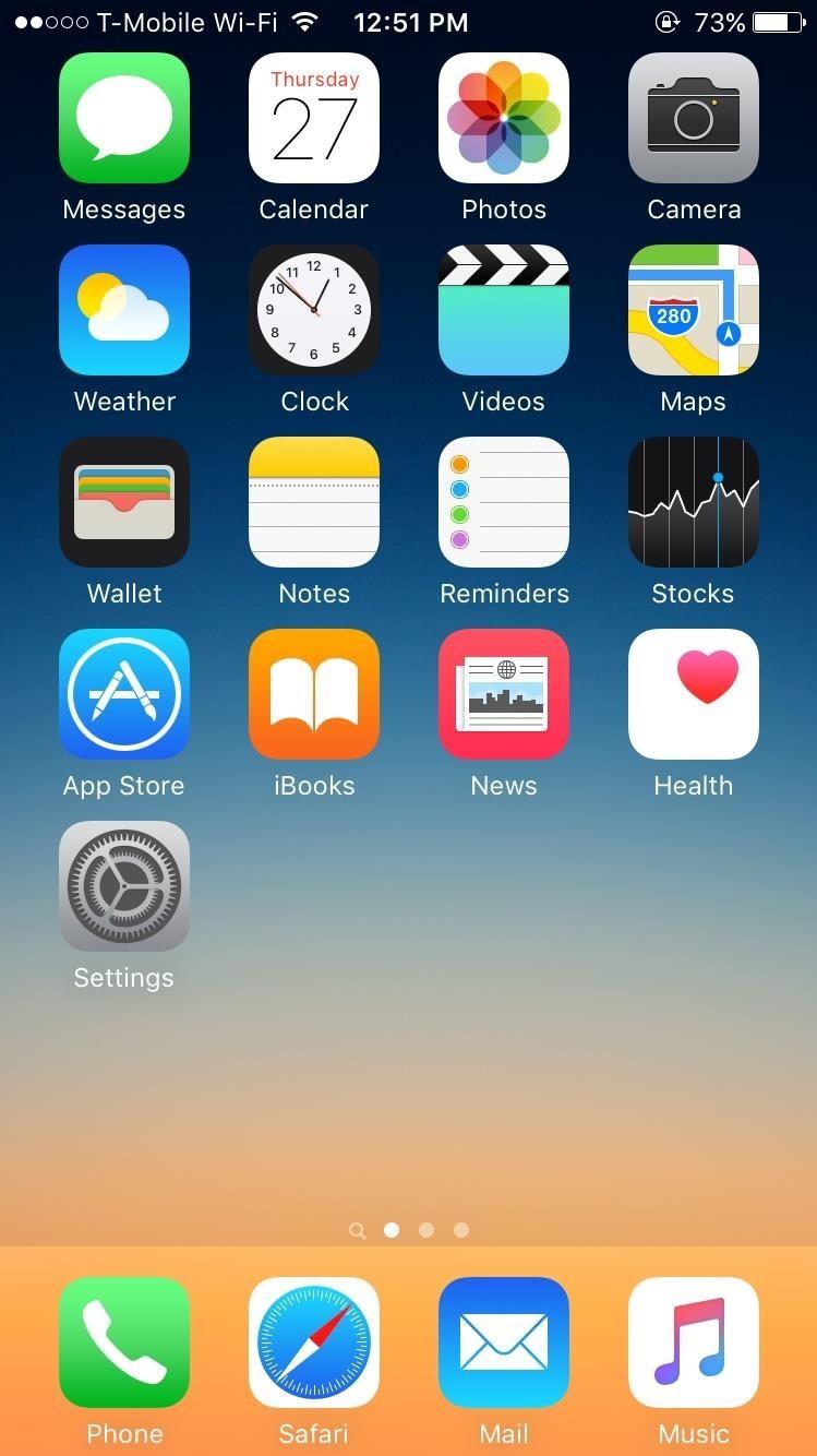 Как установить на айфон на весь экран