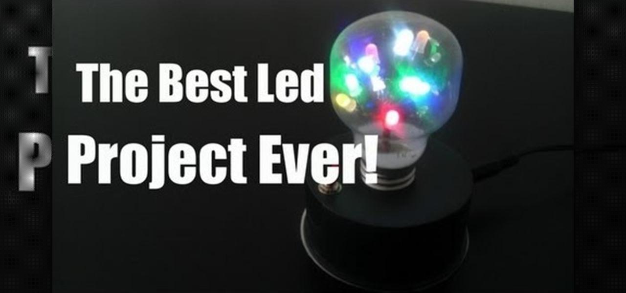 Make a Light Bulb with Dancing LEDs Inside