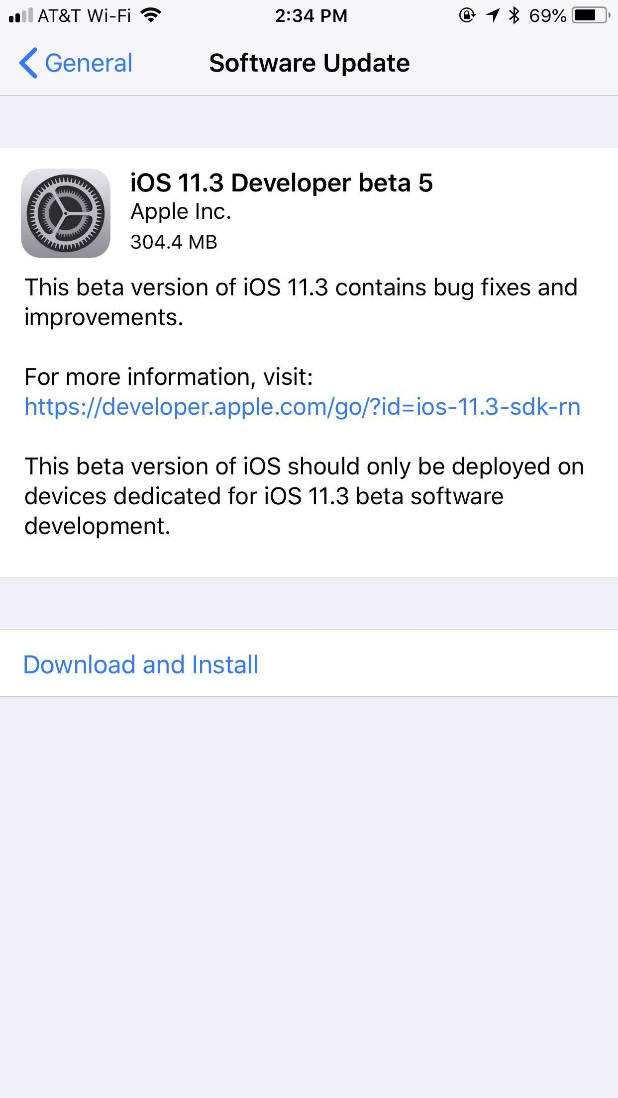 iOS 11.3 Beta 5 Released with Mostly Under-the-Hood Improvements