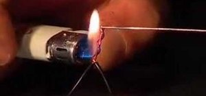 Solder with a lighter