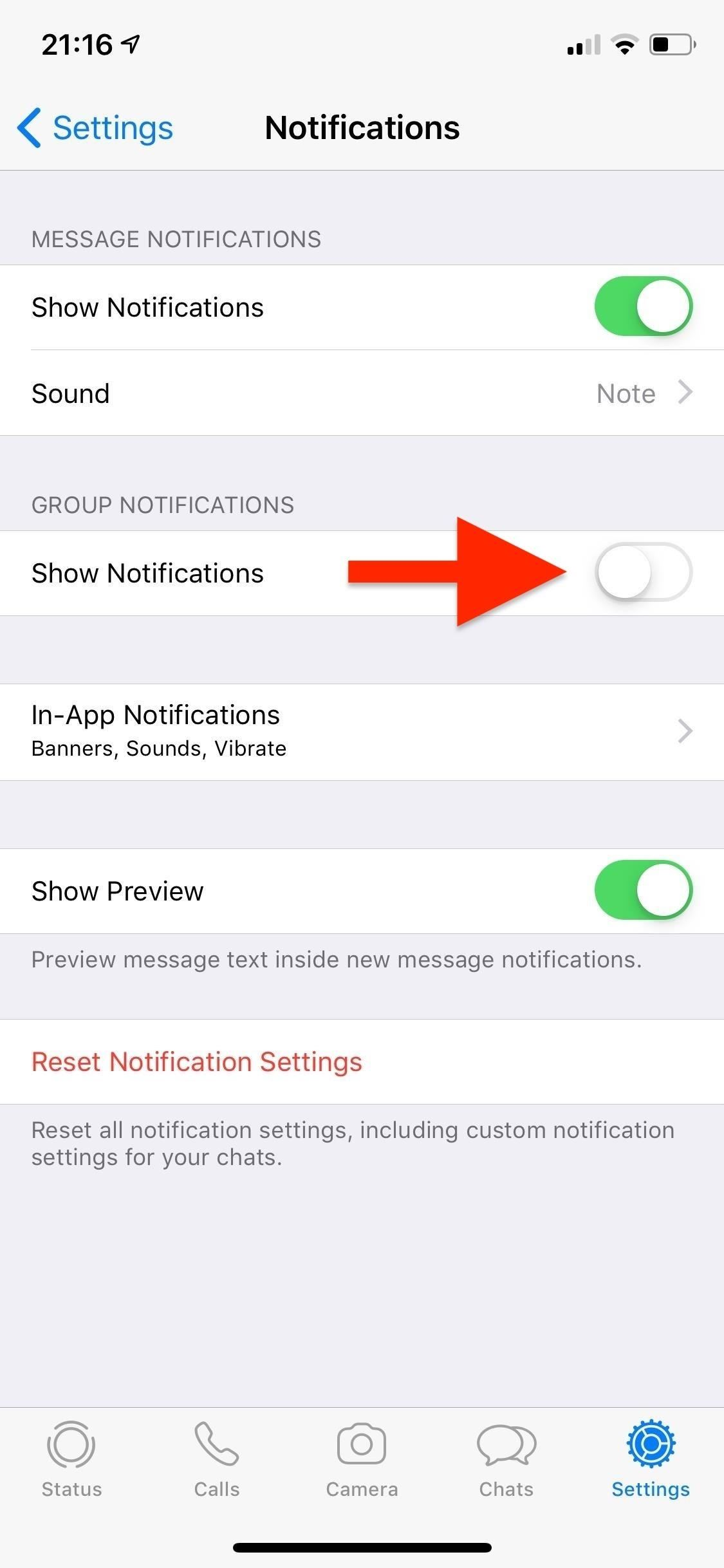 Muting or Leaving Group Chats in WhatsApp, Never Annoy Notifications