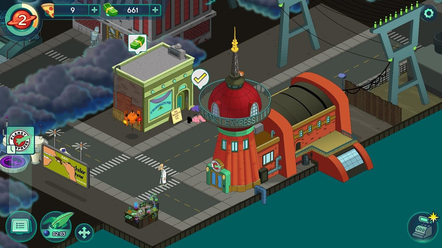gaming play futurama worlds of tomorrow on your android before