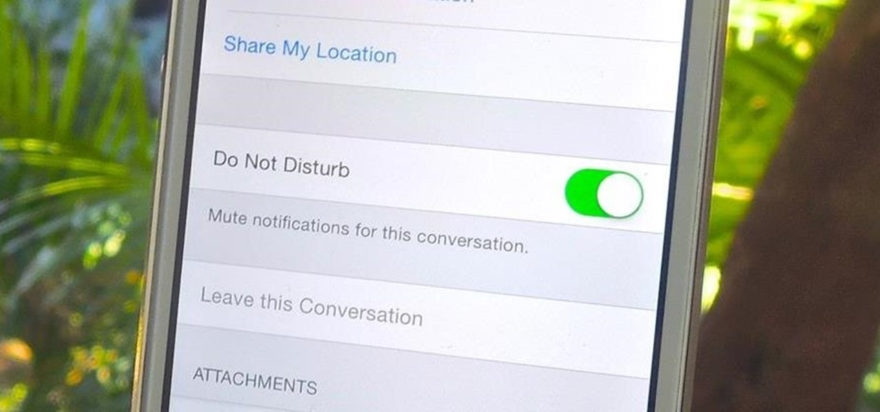 Silence Notifications for Specific Message Threads in iOS 8
