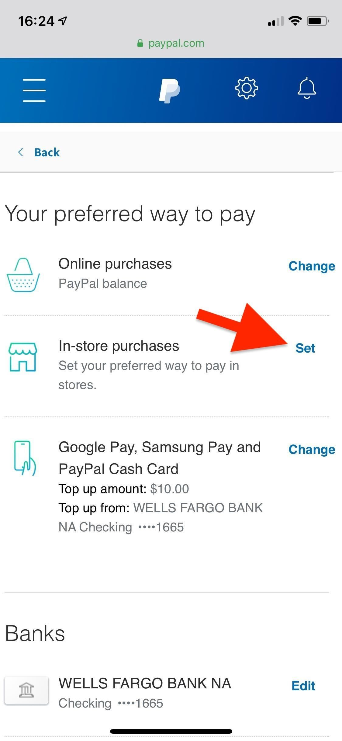 How To Change Online, In-Store, Google Pay, Payment Options For Samsung Pay & PayPal Cash Card For PayPal