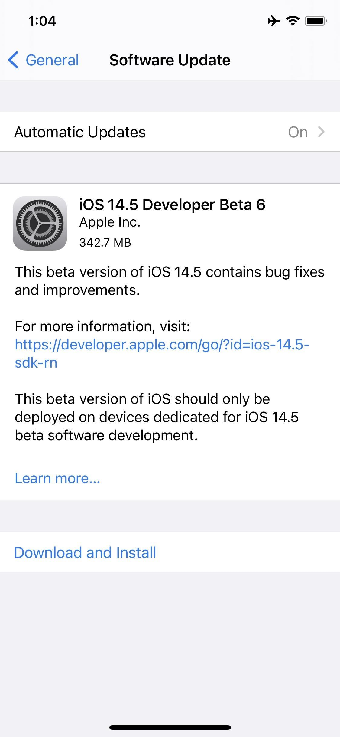Apple Releases iOS 14.5 Beta 6 to Developers, Includes Battery Health Calibration for iPhone 11 Line