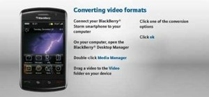 Convert between different video formats on a BlackBerry Storm phone