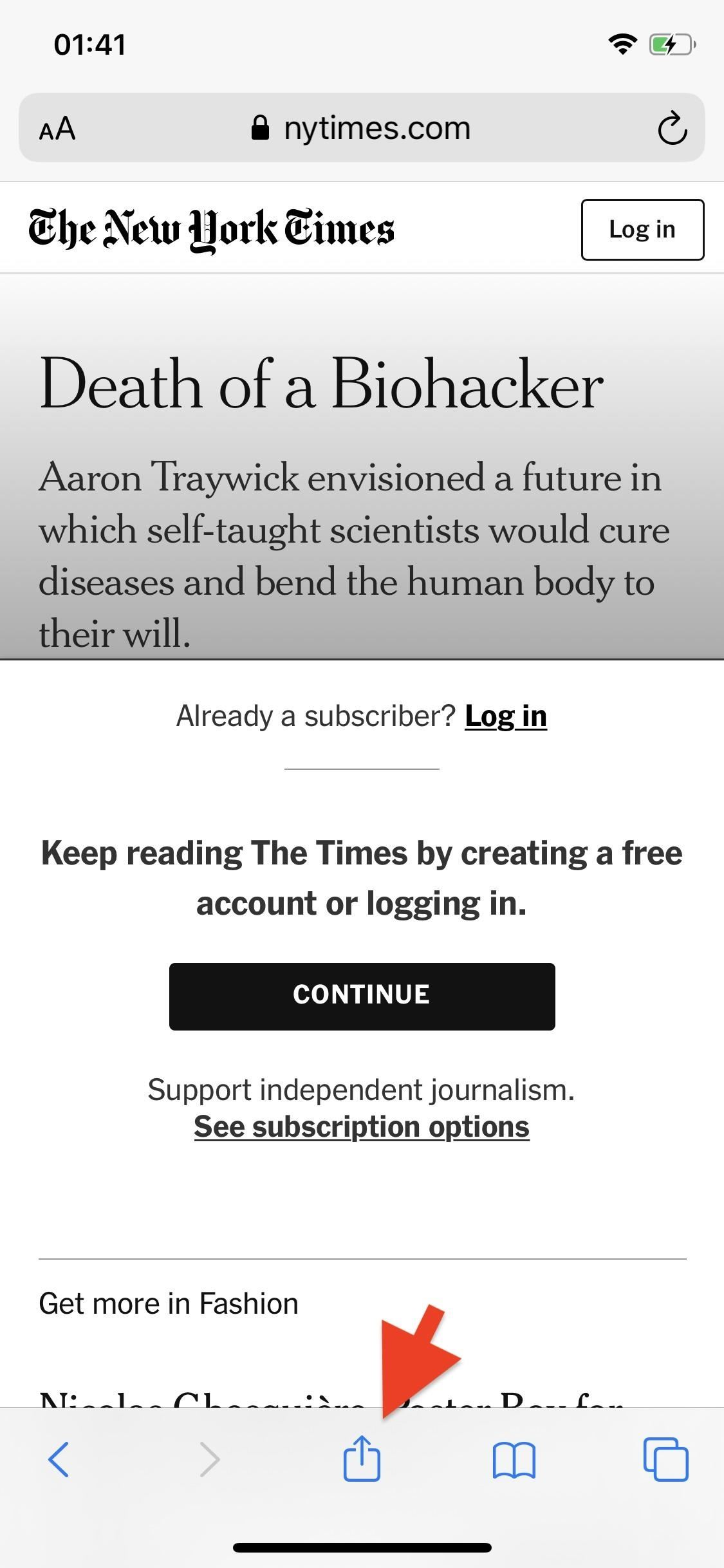 How to bypass Paywalls in Safari to read an article on your iPhone