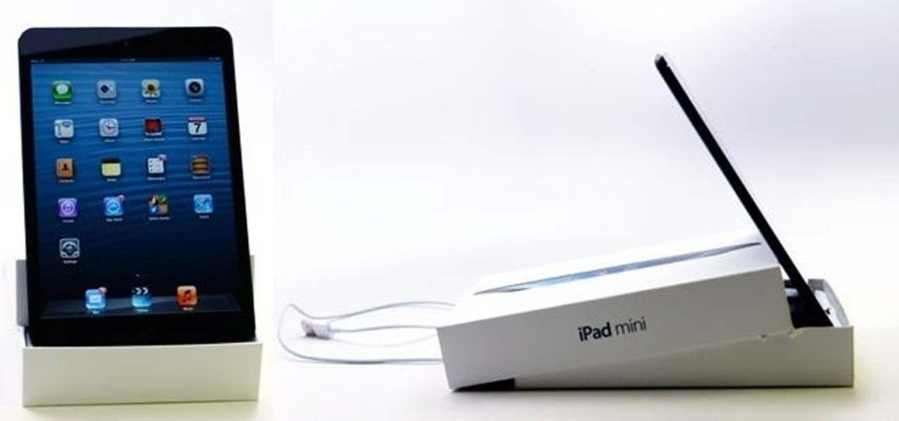 Turn Your iPad Mini's Box into a Free Stand and Charging Dock
