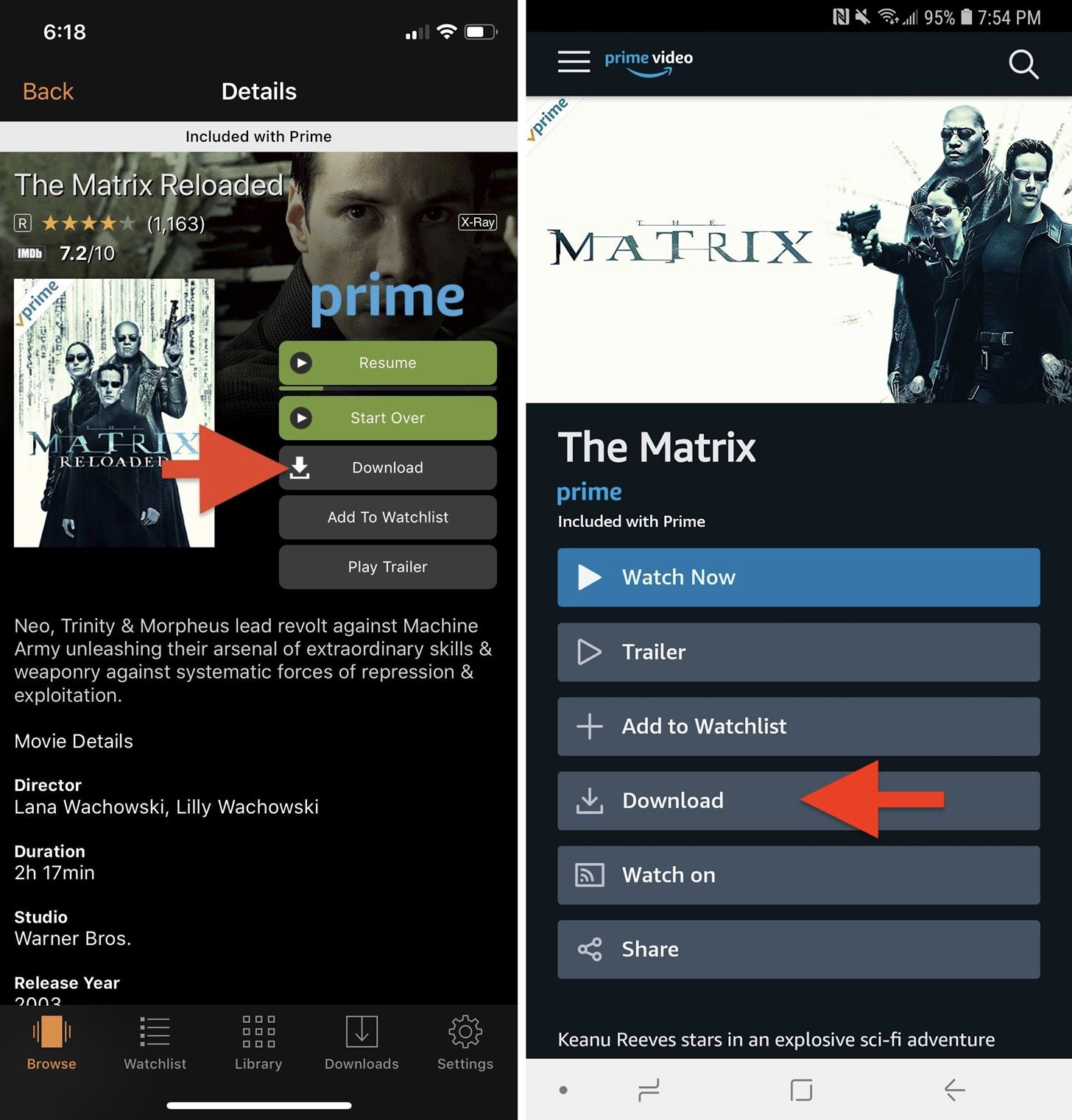 can you download movies purchased from amazon