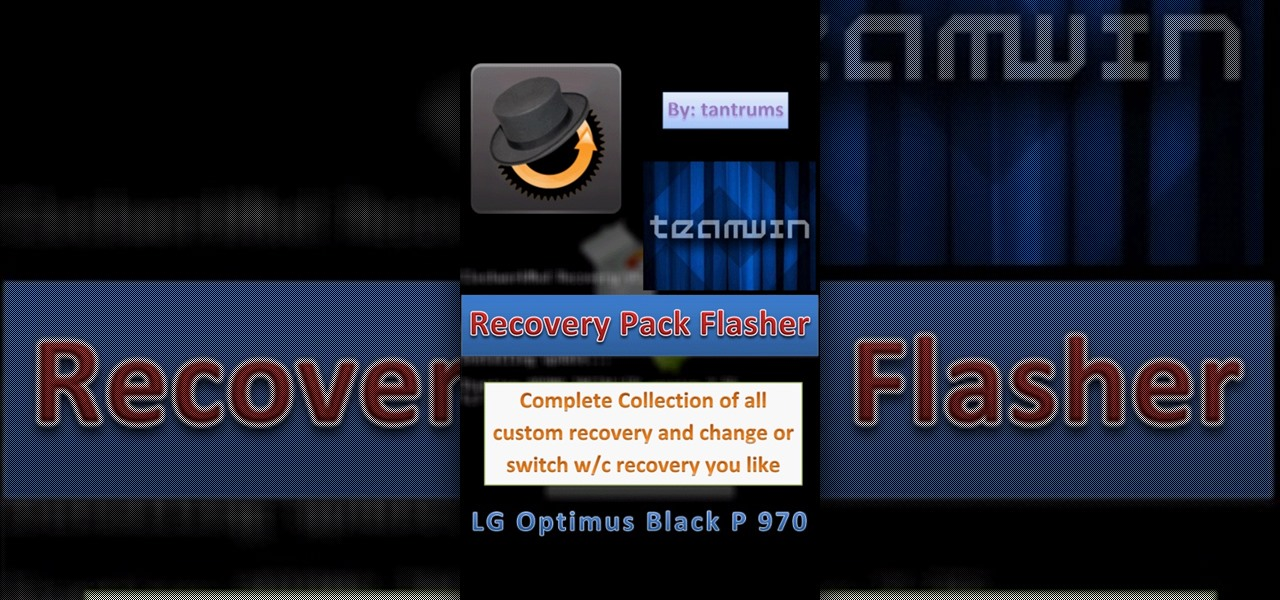 Remove the Tantrums Mod CWM on LG Optimus P970 Smartphones