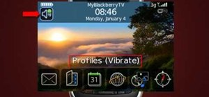 Put your Blackberry into vibrate mode