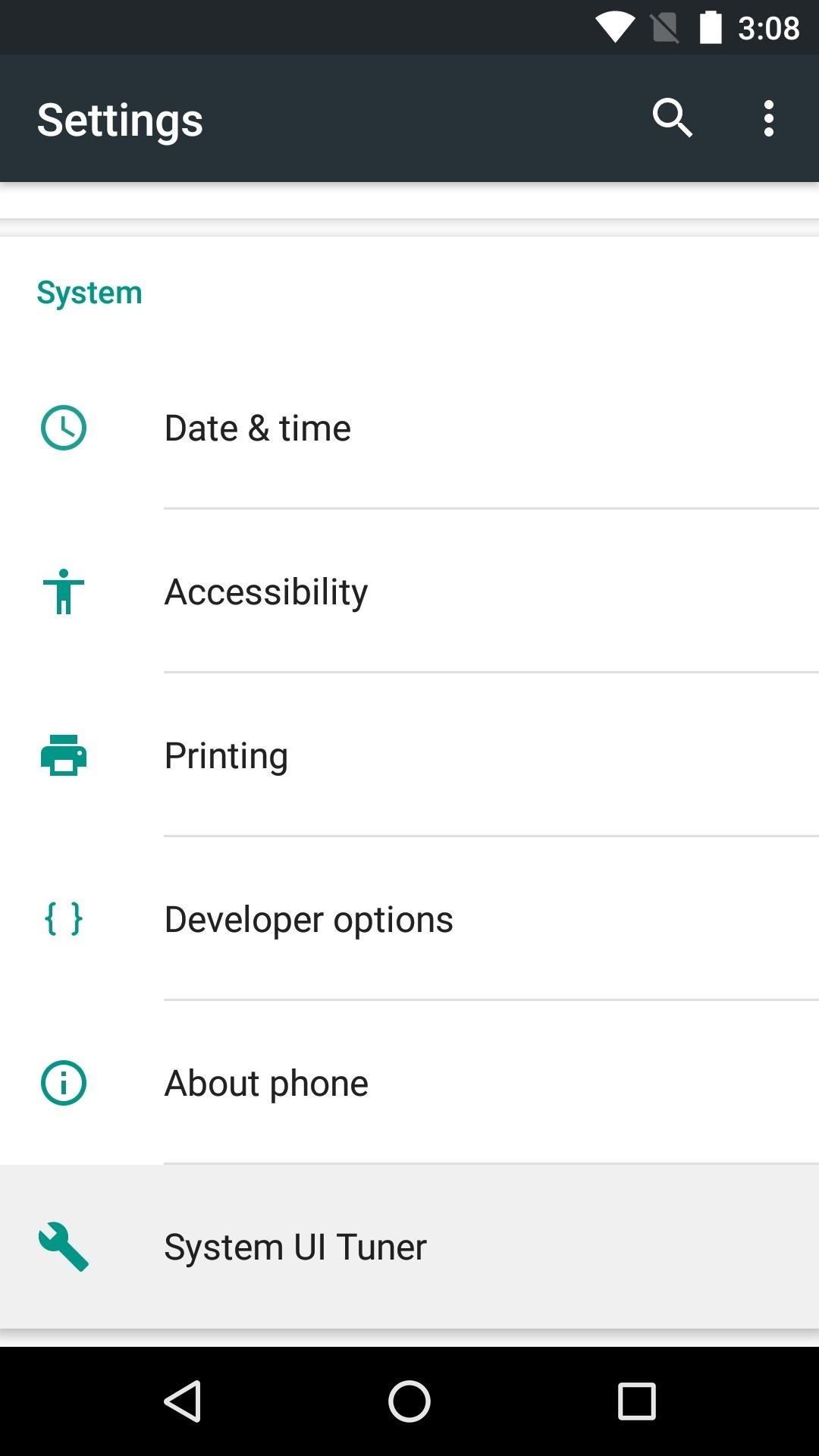 How to Enable the Hidden System UI Tuner Menu in Android