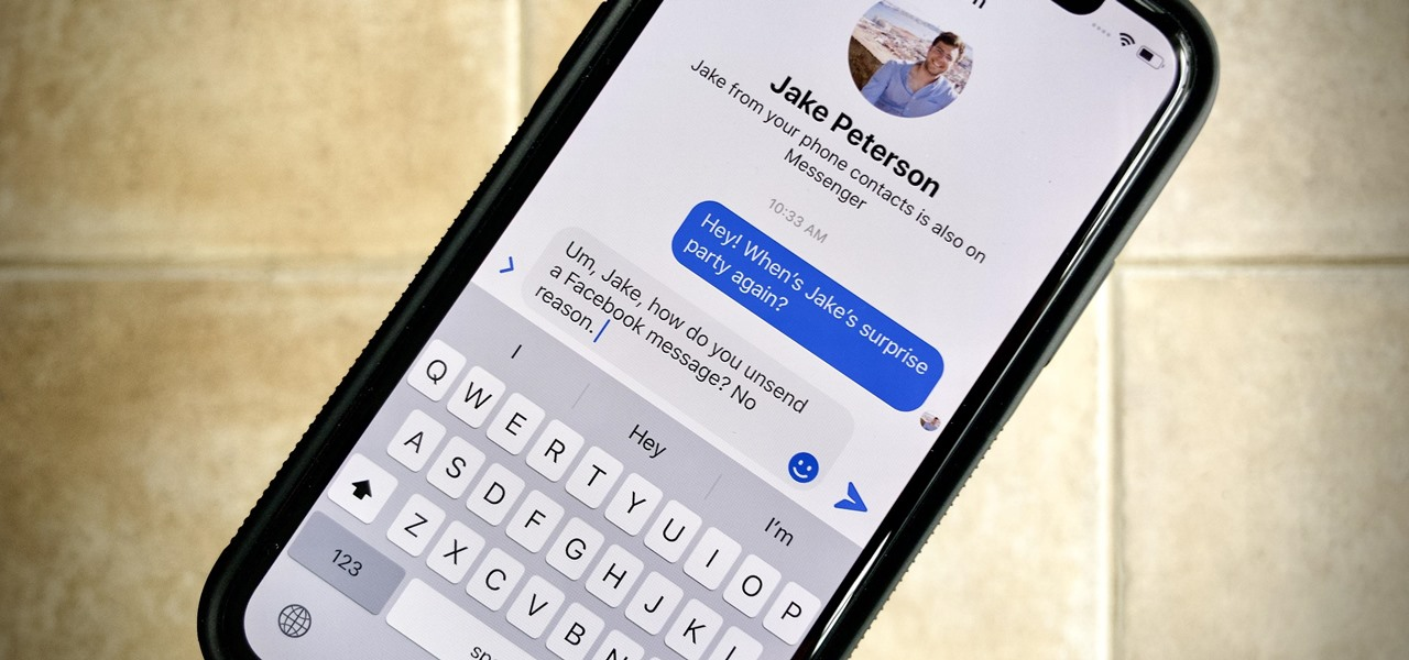 Unsend Messages in Facebook Messenger Chats So Your Recipients Can't View Them