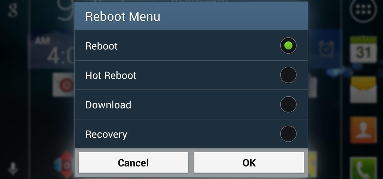Restart into Recovery or Download Mode Right from Your Samsung Galaxy S4's Reboot Menu