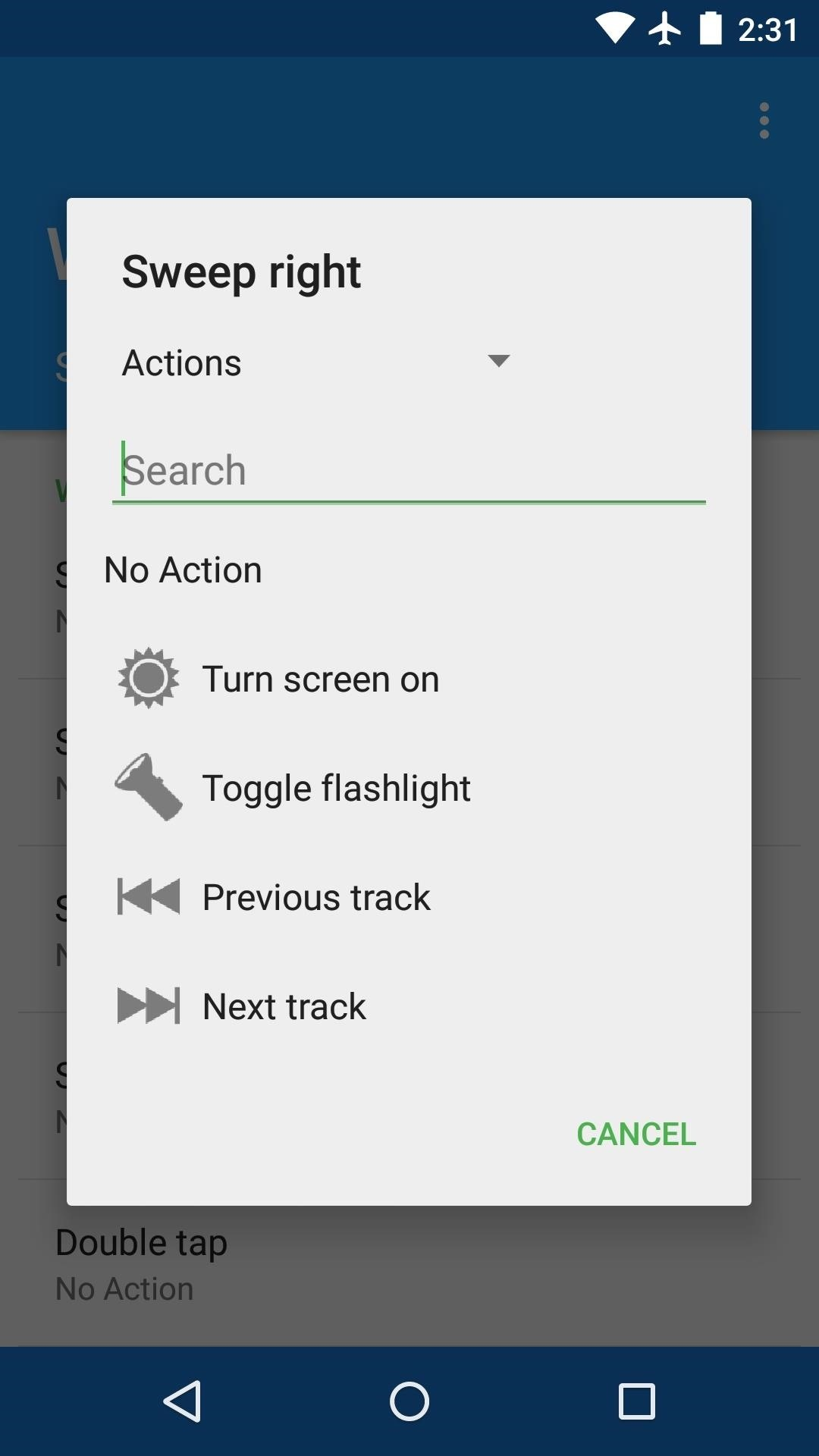 how to turn off gestures on android