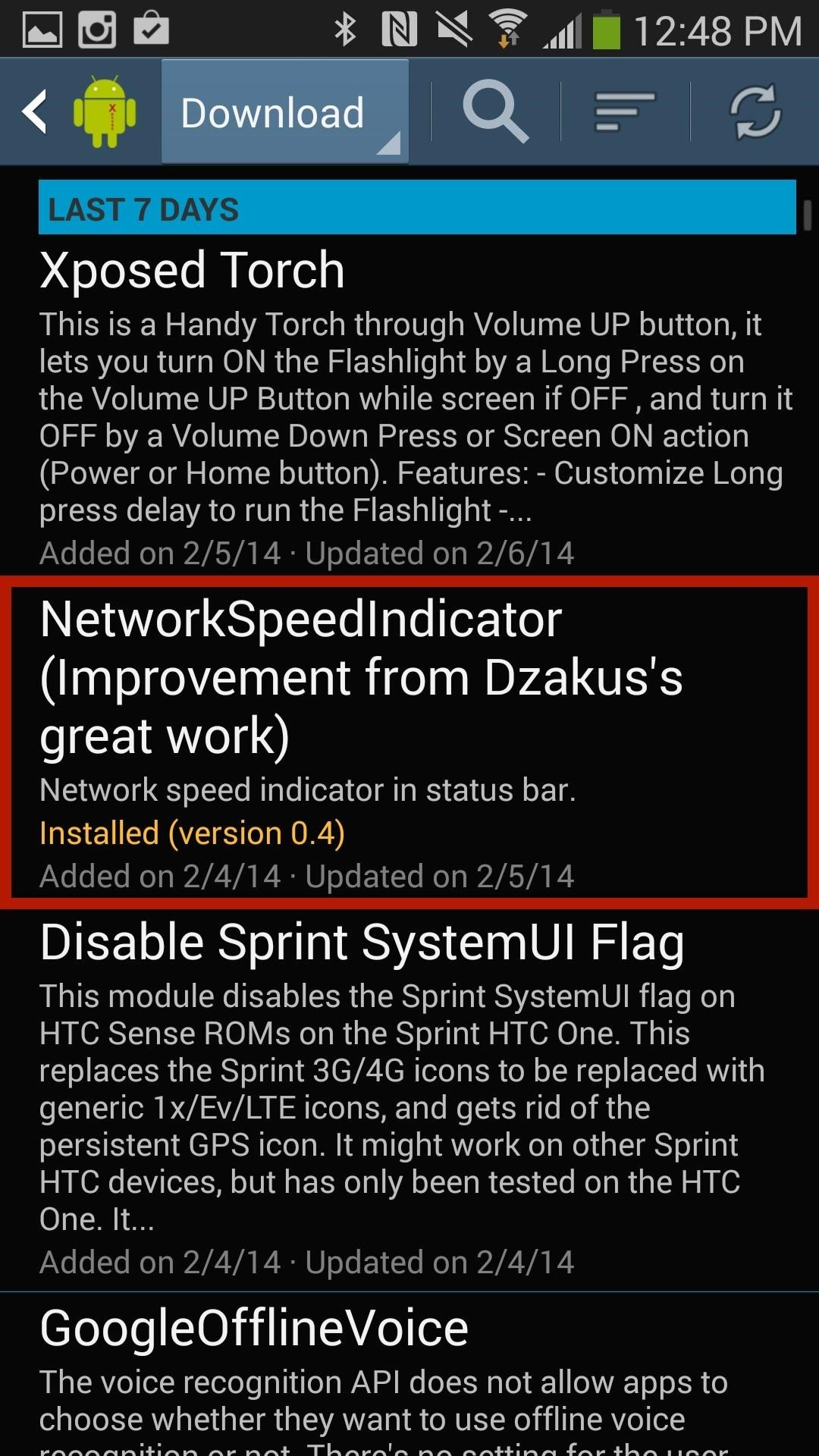 How to view cellular wi fi data speeds from the status bar of your installing the network speed indicator buycottarizona Images