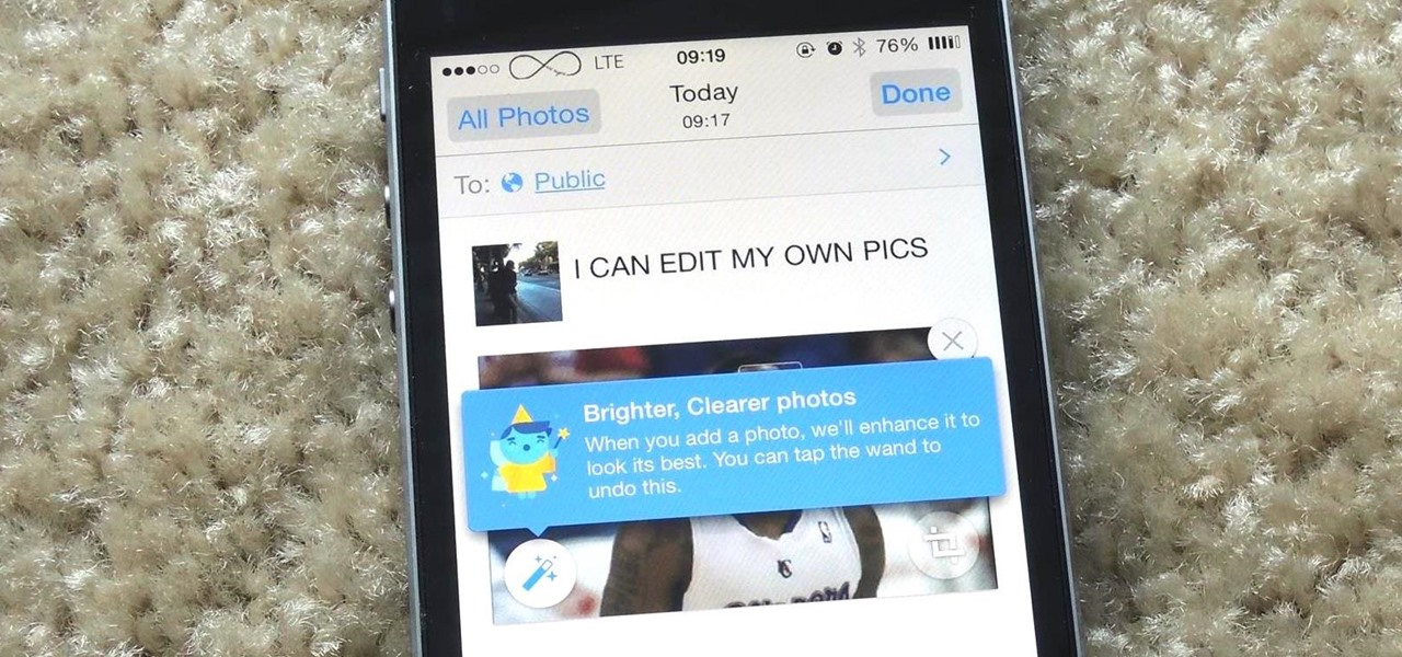Disable the Photo Auto-Enhance Feature in Facebook's Mobile Apps