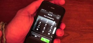 Make a phone call on a locked iPhone 4 (iOS 4.1)