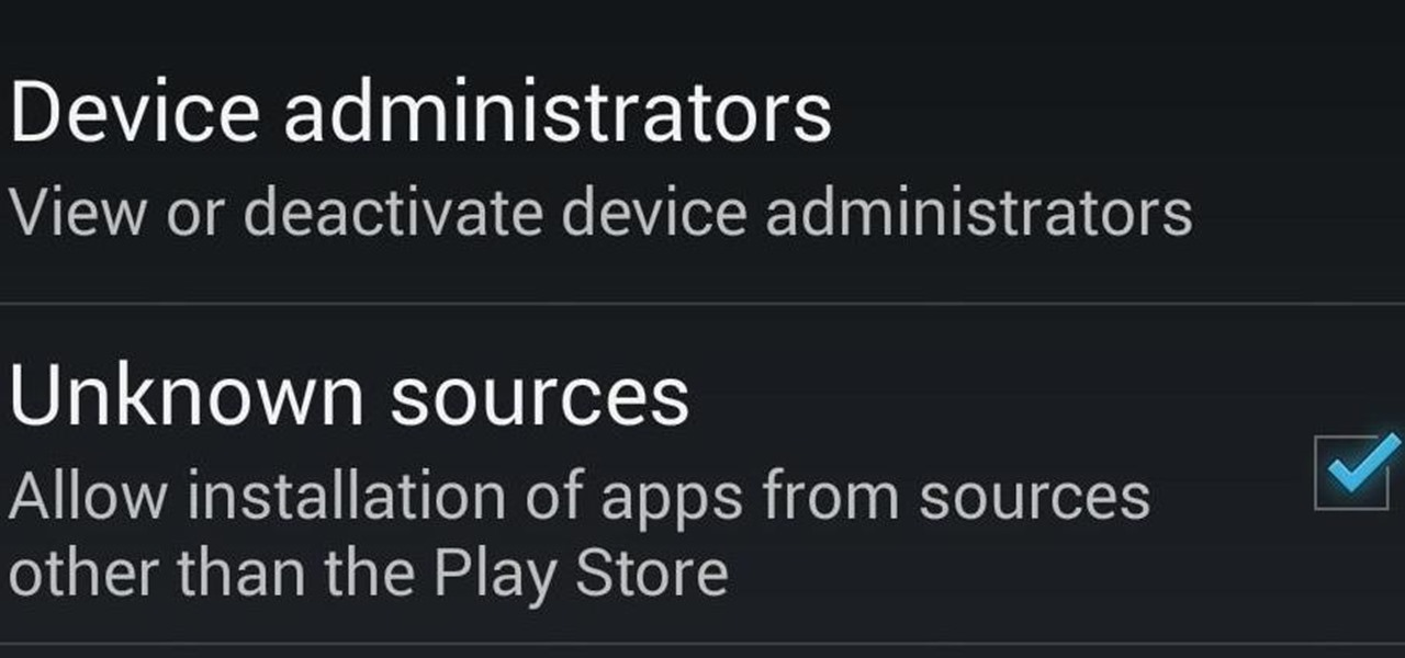 "Enable ""Unknown Sources"" to Install Third-Party Apps (APK Files) on a Nexus 4 or Nexus 5"