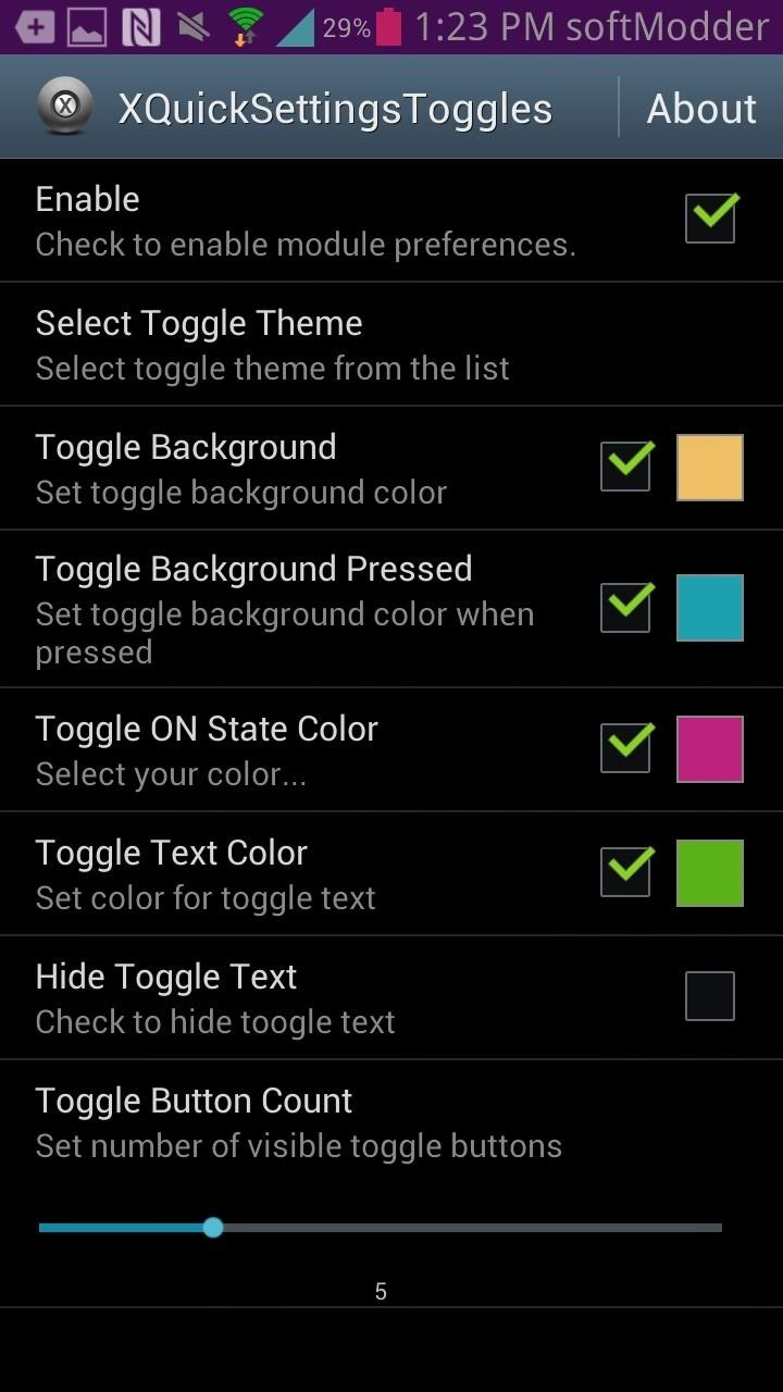 How to Customize Quick Settings Toggles with Colors, Photos, & New Icons on a Samsung Galaxy Note 2